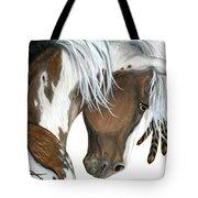 Tri Colored Pinto Horse Tote Bag