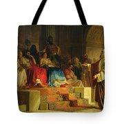 Trial Of The Apostle Paul Tote Bag