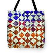 Triangles Impressionism Painting Tote Bag