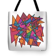 Triangles In Motion Tote Bag by ME Kozdron