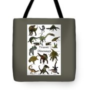 Triassic Dinosaurs Tote Bag