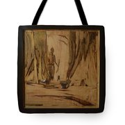 Tribal Man With Wooden Waste Tote Bag