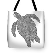 Tribal Turtle II Tote Bag by Carol Lynne