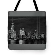 Tribute In Light  # 7 - B  And  W Tote Bag