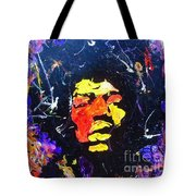 Tribute To Jimi Hendrix Tote Bag