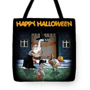 Trick Or Treat Time For Little Ducks Tote Bag