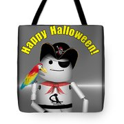 Trick Or Treat Time For Robo-x9 Tote Bag