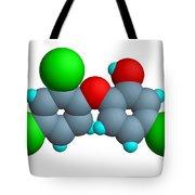 Triclosan Molecule Tote Bag