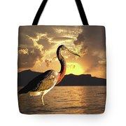 Tricolored Heron At Sunset Tote Bag