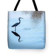 Tricolored Heron Silhouette Tote Bag