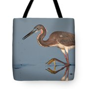 Tricolored Heron Stepping Tote Bag