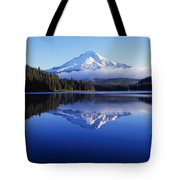 Trillium Lake With Reflection Of Mount Tote Bag