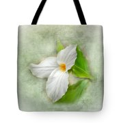 Trillium Wildflower  Tote Bag