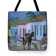 Trinidad Lifestyle 28x22in Oil On Canvas  Tote Bag