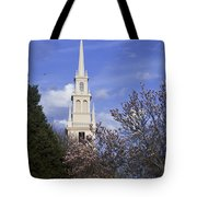 Trinity Church In Spring Tote Bag