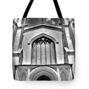 Trinity Episcopal Cathedral Black And White Tote Bag