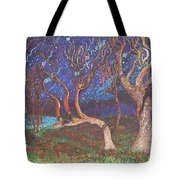 Trinity Tree By Moonlight Tote Bag