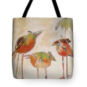 Trio Birds Tote Bag