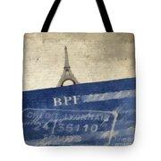 Trip To Paris Square Pillow Size Tote Bag