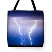 Triple Lightning Tote Bag