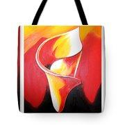 Triple Lily Paintings Tote Bag