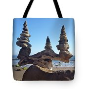 Triple Stack On Driftwood Tote Bag