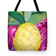 Trippy Pineapple  Tote Bag