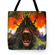 Screams Of Yesterday, Today And Tomorrow Tote Bag