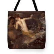 Triton Carrying A Nereid On His Back 1875 Tote Bag