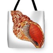 Triton Shell On White Vertical Tote Bag