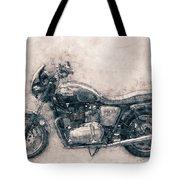 Triumph Bonneville - Standard Motorcycle - 1959 - Motorcycle Poster - Automotive Art Tote Bag