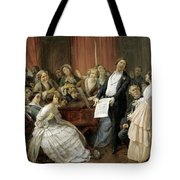Triumph Of A Tenor At A Musical Matinee Tote Bag