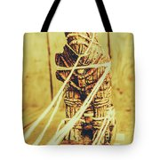 Trojan Horse Wooden Toy Being Pulled By Ropes Tote Bag