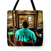 Trolley Driver In New Orleans Tote Bag