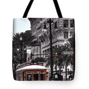 Trolley On Bourbon And Canal  Tote Bag