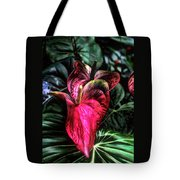 Anthurium Red Tropical Flower Tote Bag