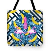 Tropical Banana Pink   Tote Bag