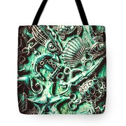 Tropical Bay Elements Tote Bag