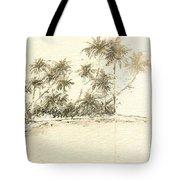 Tropical Beach Drawing Tote Bag