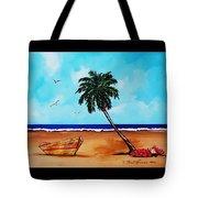 Tropical Beach Scene Tote Bag