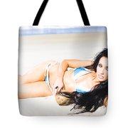 Tropical Beach Woman Tote Bag