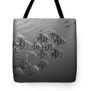 Tropical Black And White Tote Bag