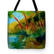 Tropical Canal Tote Bag