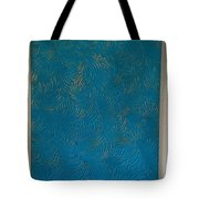 Tropical Palms Canvas Teal Blue - 16x20 Hand Painted Tote Bag
