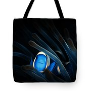 Tropical Clown Fish - Abstract Digital Painting 11x8 Tote Bag