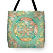 Tropical Color Abstract Tote Bag