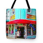 Tropical Corner Key West Florida Tote Bag