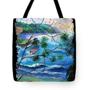 Tropical Cove  Fresco Triptych 2 Tote Bag