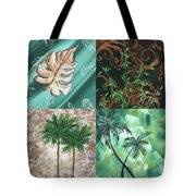 Tropical Dance Square By Madart Tote Bag