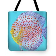 Tropical Discus Fish With Red Spots Tote Bag